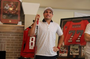 Hathaway's stick is being auctioned off.