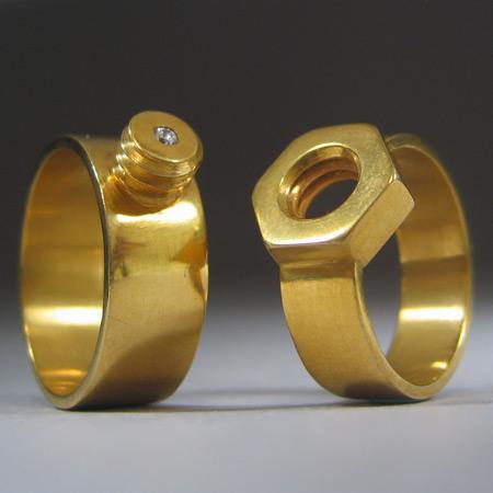 screw wedding bands