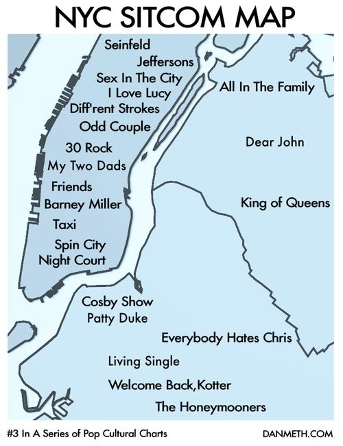ny sitcom map