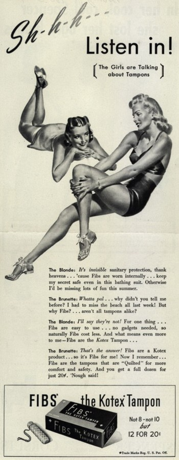 old tampon ad