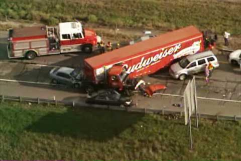 dallas tx budweiser truck accident