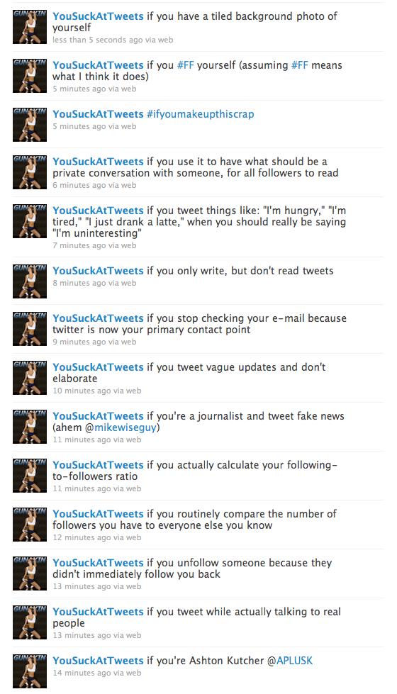 suck at twitter