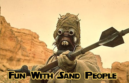 fun with sand people