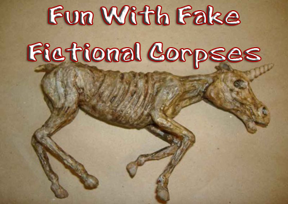 fake fictional corpses