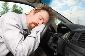 sleeping behind the wheel