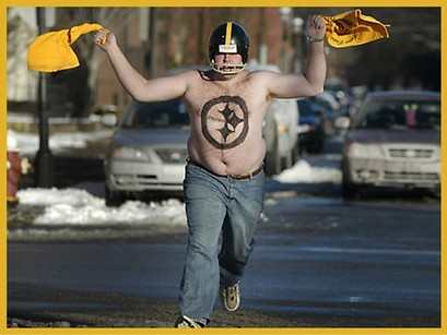 steeler fan proudly waving terrib 2