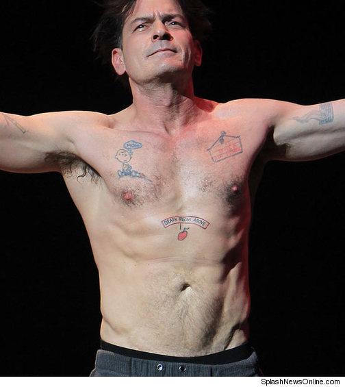 sheen shirtless