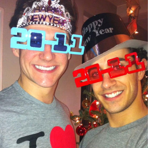 Gay New Years Glasses