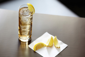dark rum ginger highball lemon hero