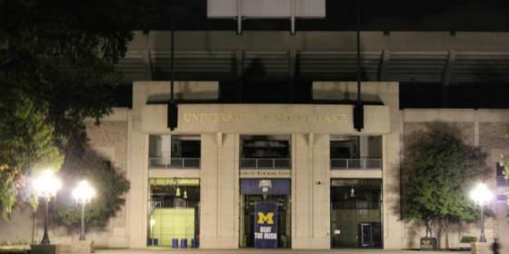 Michigan Banner at Notre Dame Stadium