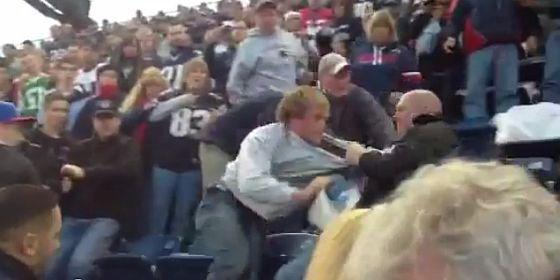 Patriots fans fight