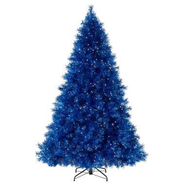 sassy saphireblue tinsel christmas tree 2