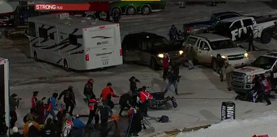 ESPN snowmobile crash