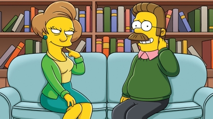 the simpsons ned flanders edna krabappel 1920x1080 wallpaper www.wallpaperno.com 95