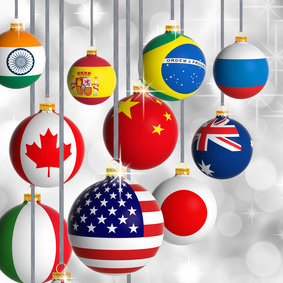 Christmas Around the World Infographics