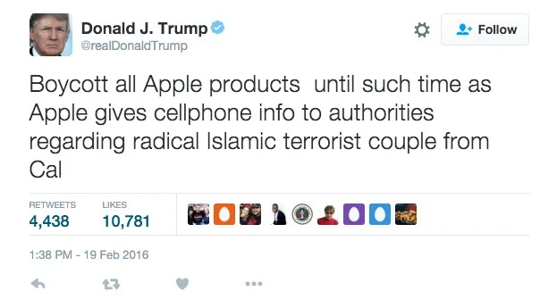 Trump Calls for Apple Boycott from iPhone?