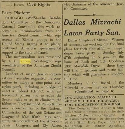 kenen at democratic national committee – 1952