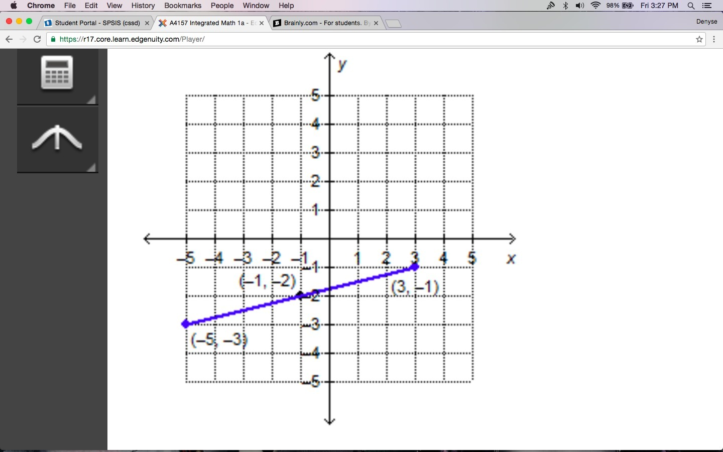 The Given Line Segment Has A Midpoint At 1 2 Please