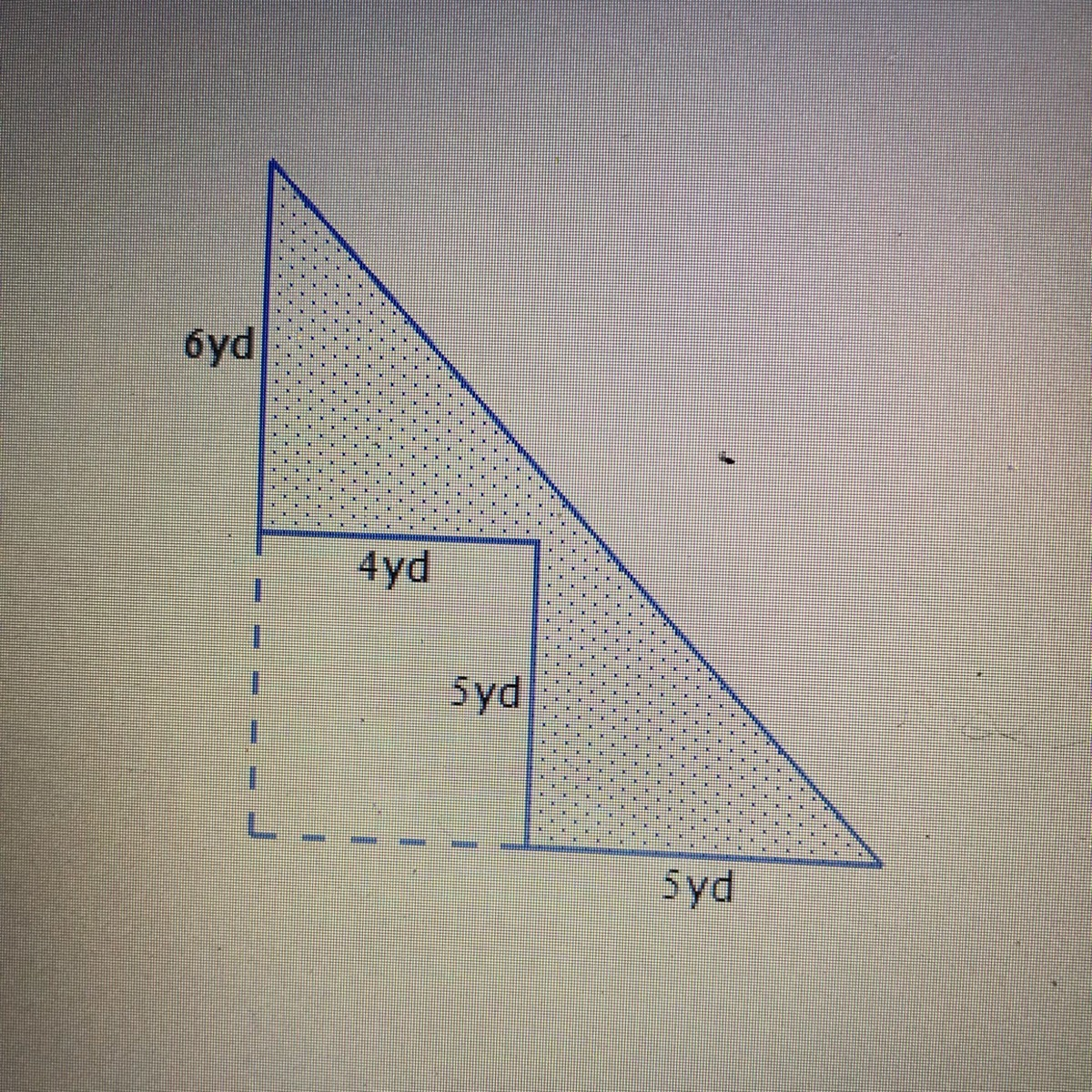 A Rectangle Is Removed From A Right Triangle To Create The
