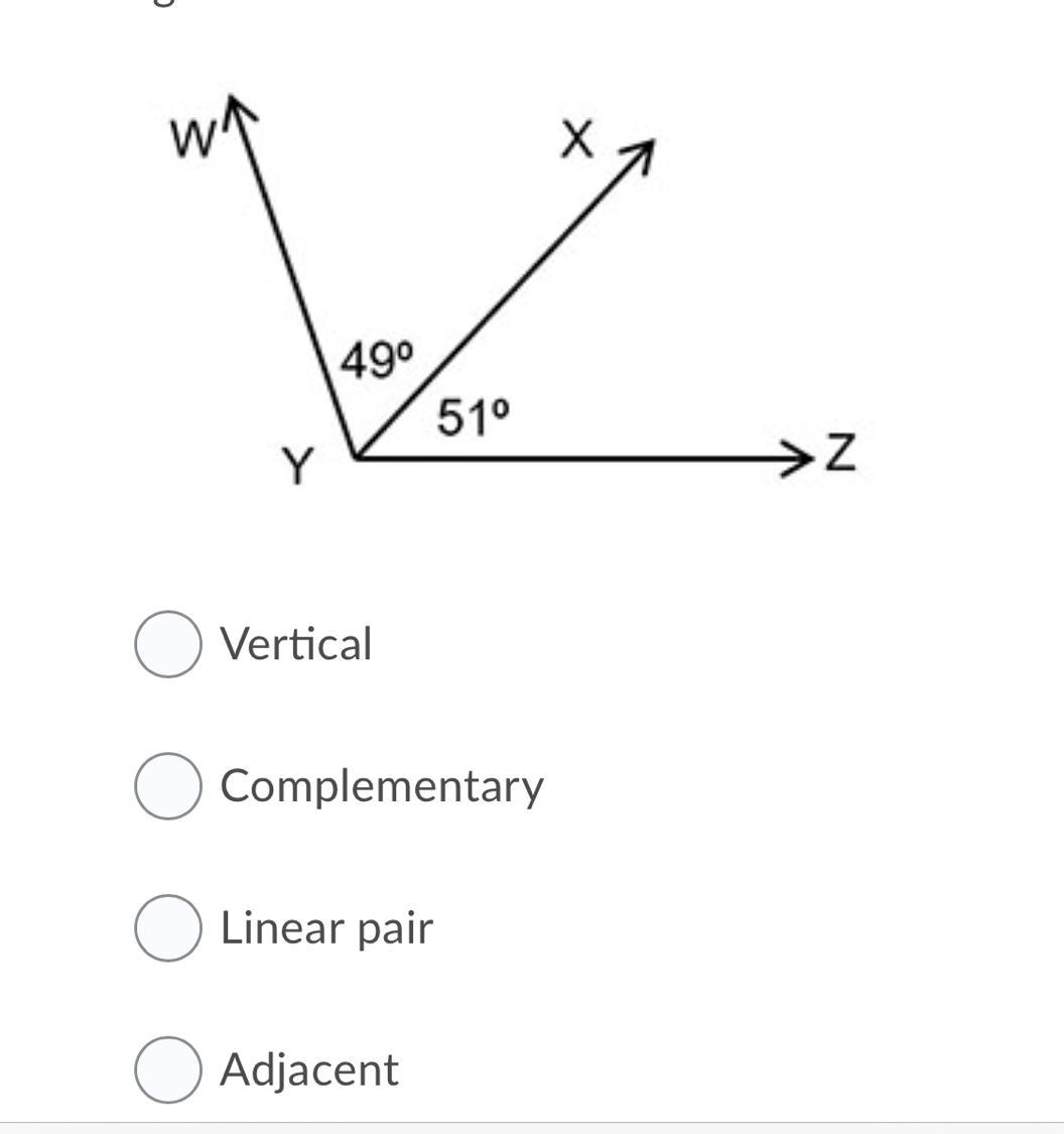 Identify The Pair Of Angles Shown In The Figure Question