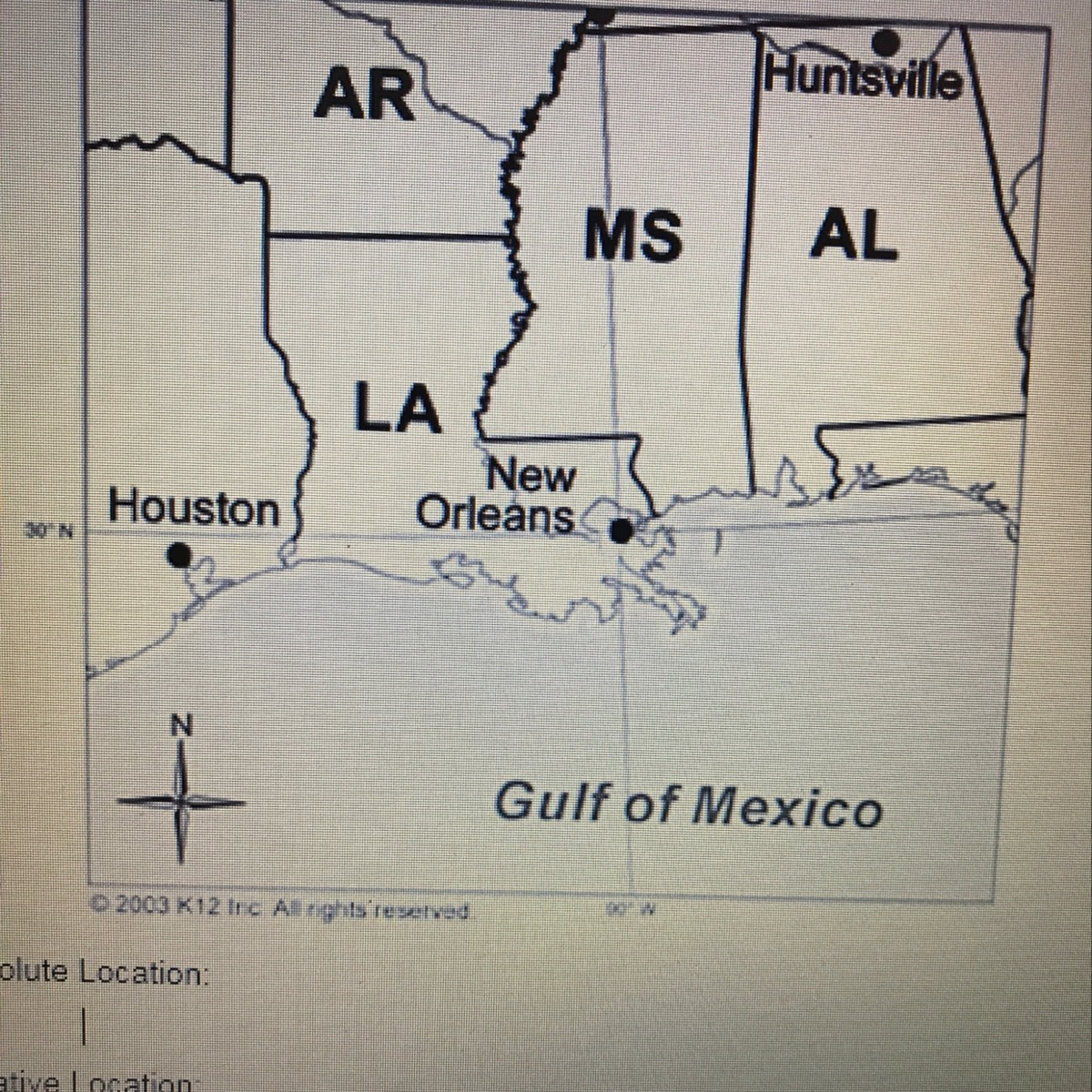 Use The Map To Describe Both The Absolute And Relative Location Of New Orleans
