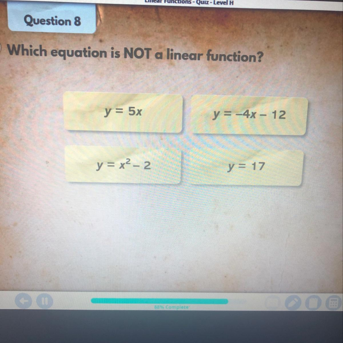 Which Equation Is Not A Linear Function