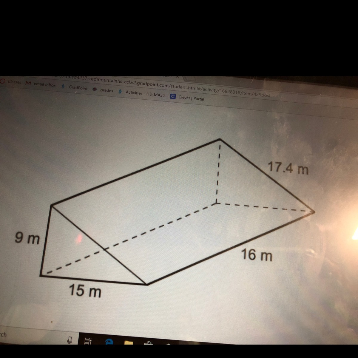To The Nearest Whole Number What Is The Surface Area Of