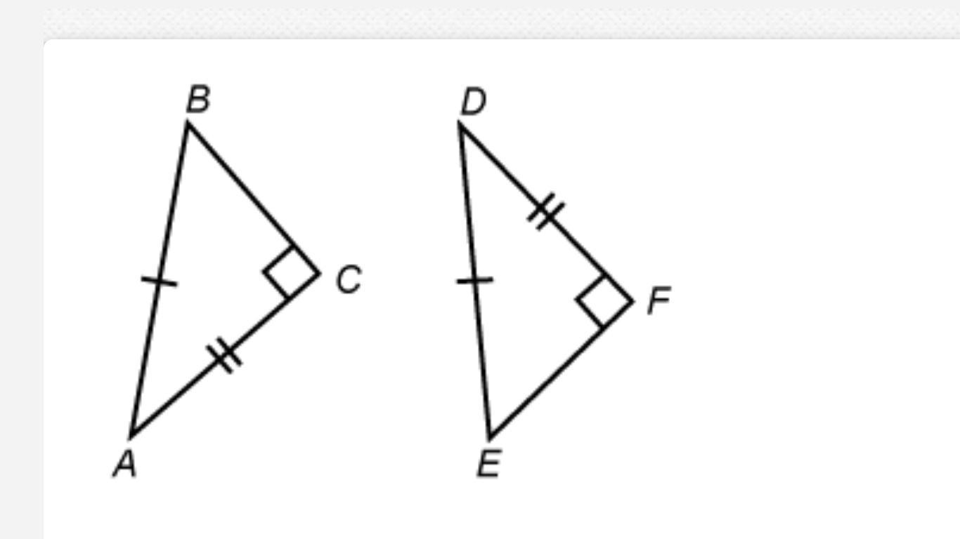 What Theorem Can Be Used To Show That Abc Def A Aas
