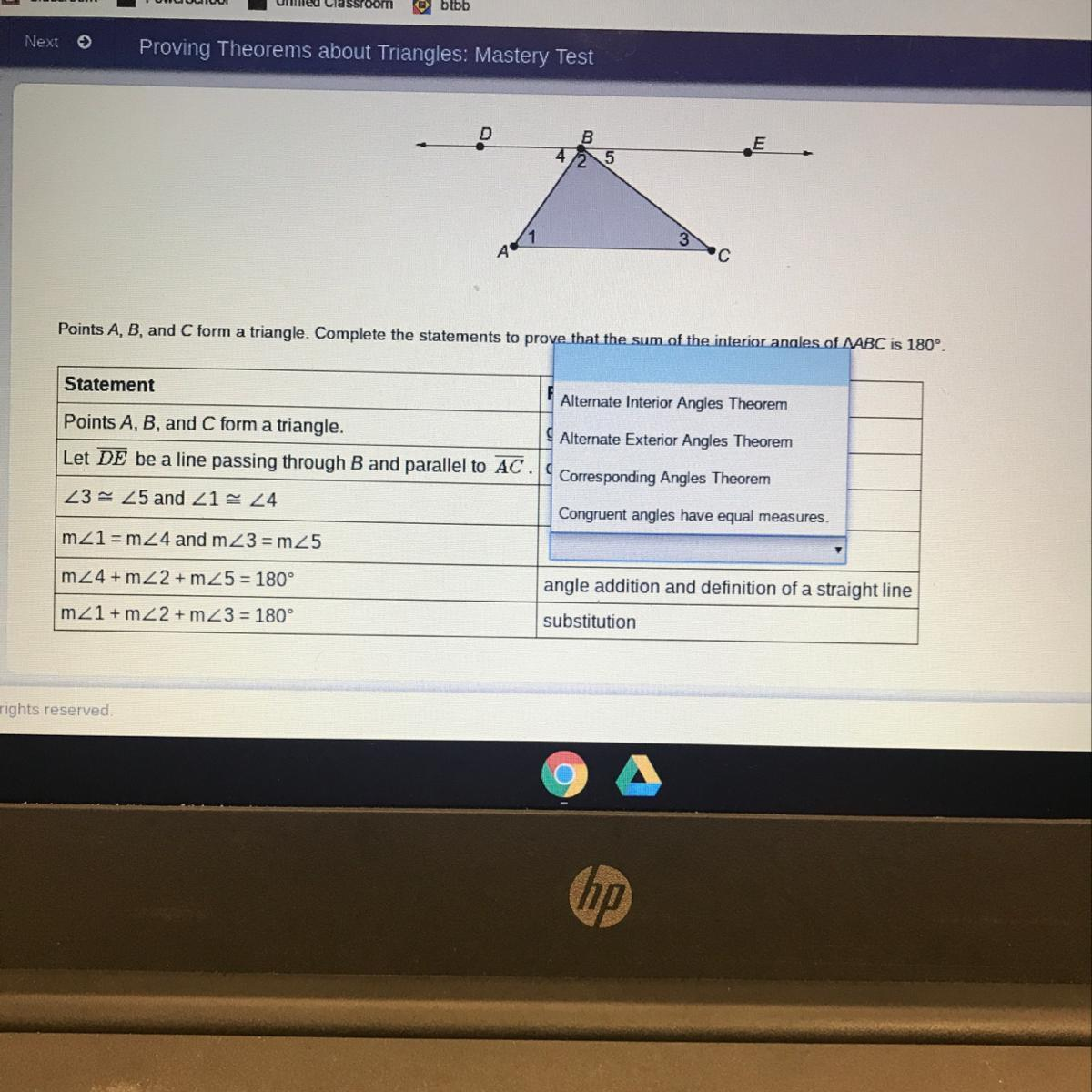 Solved Points A B And C Form A Triangle Complete The