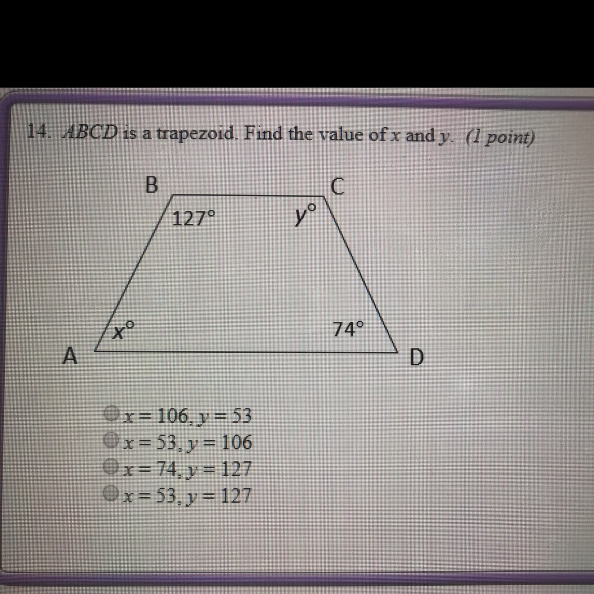 Abcd Is A T Zoid Find The Value Of X And Y