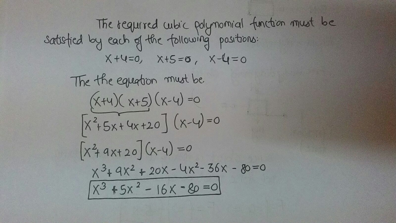 What Is A Cubic Polynomial Function In Standard Form With