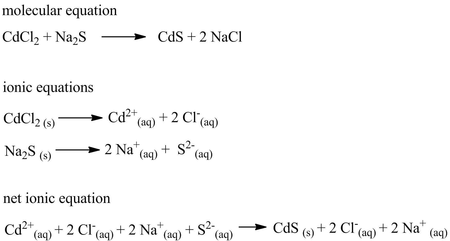 Please Help Stat When Aqueous Solutions Of Cadmium
