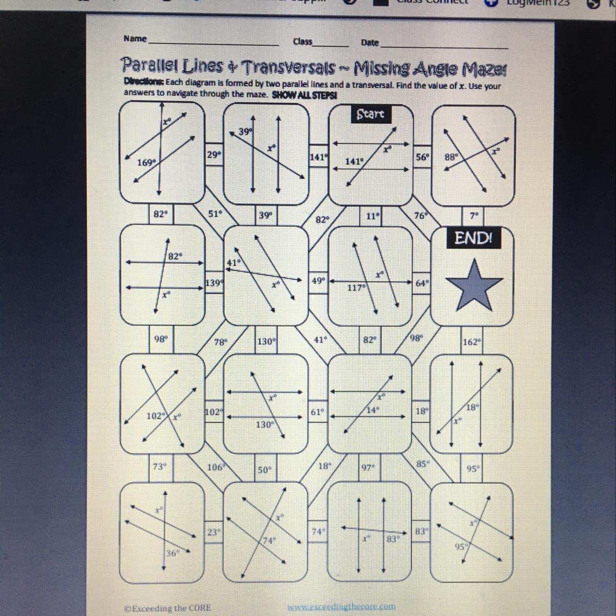 Please Help Parallel Lines Transversals Missing
