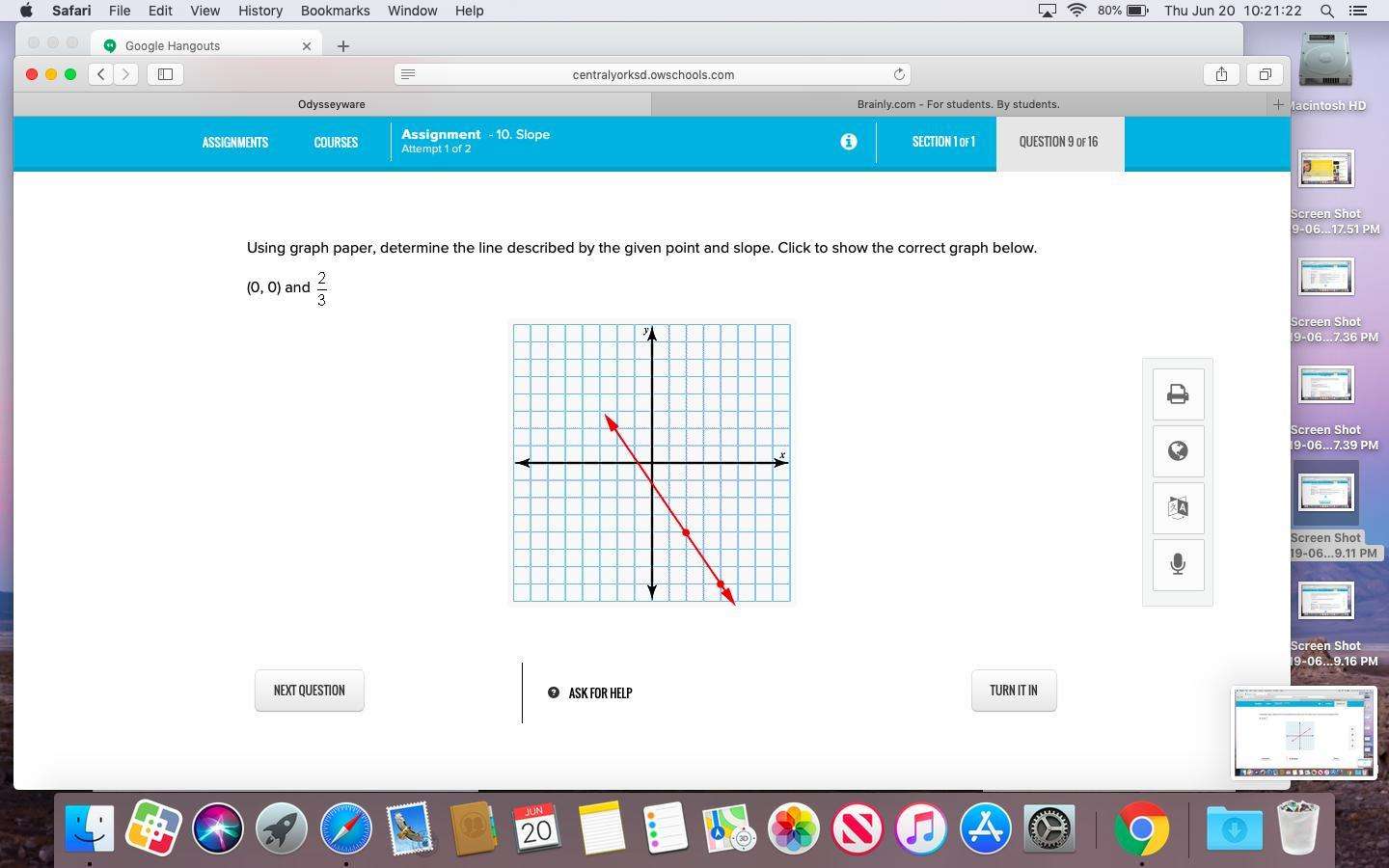 Using Graph Paper Determine The Line Described By The