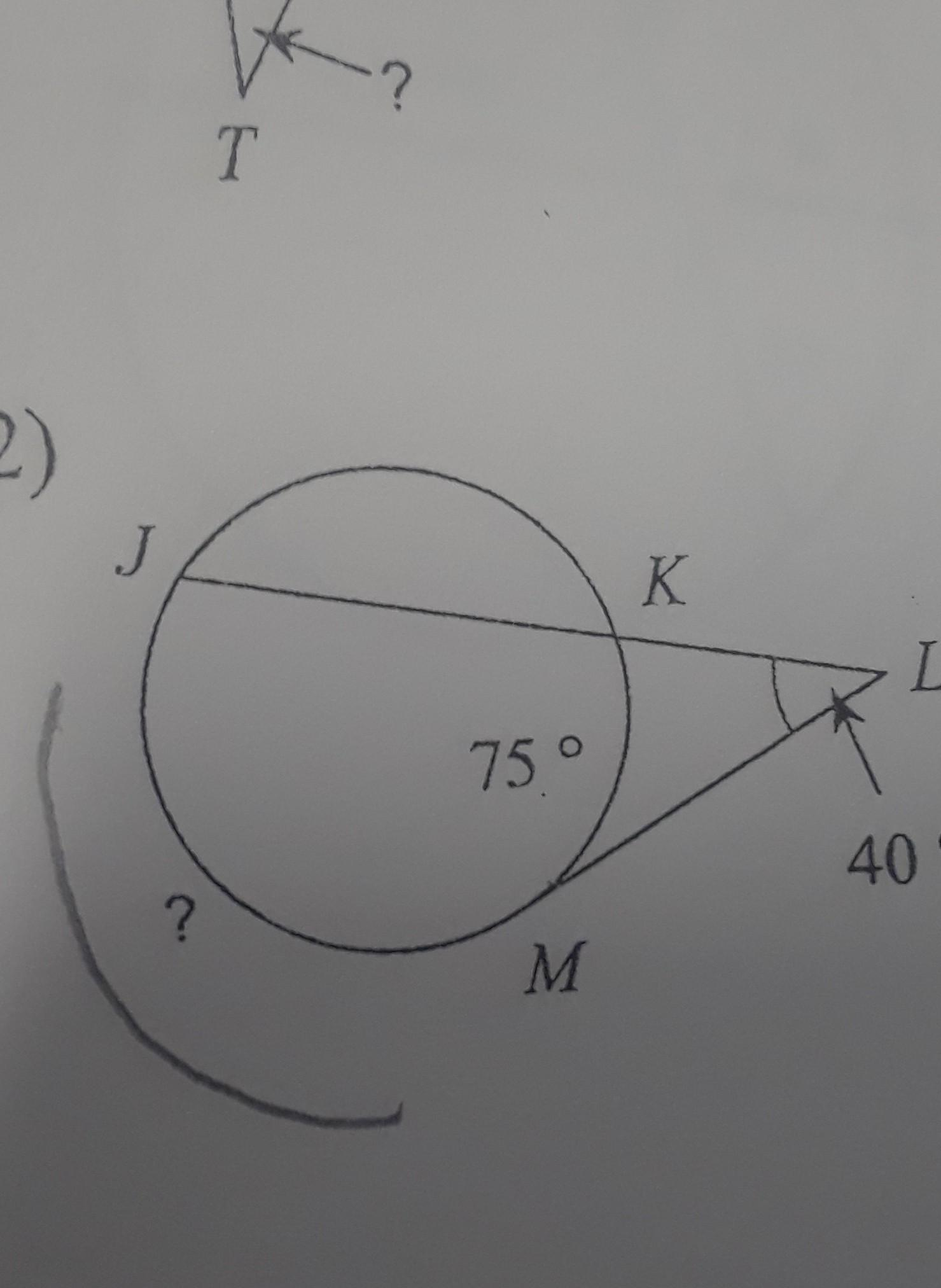 Find The Measure Of The Arc Or Angle Indicated Assume