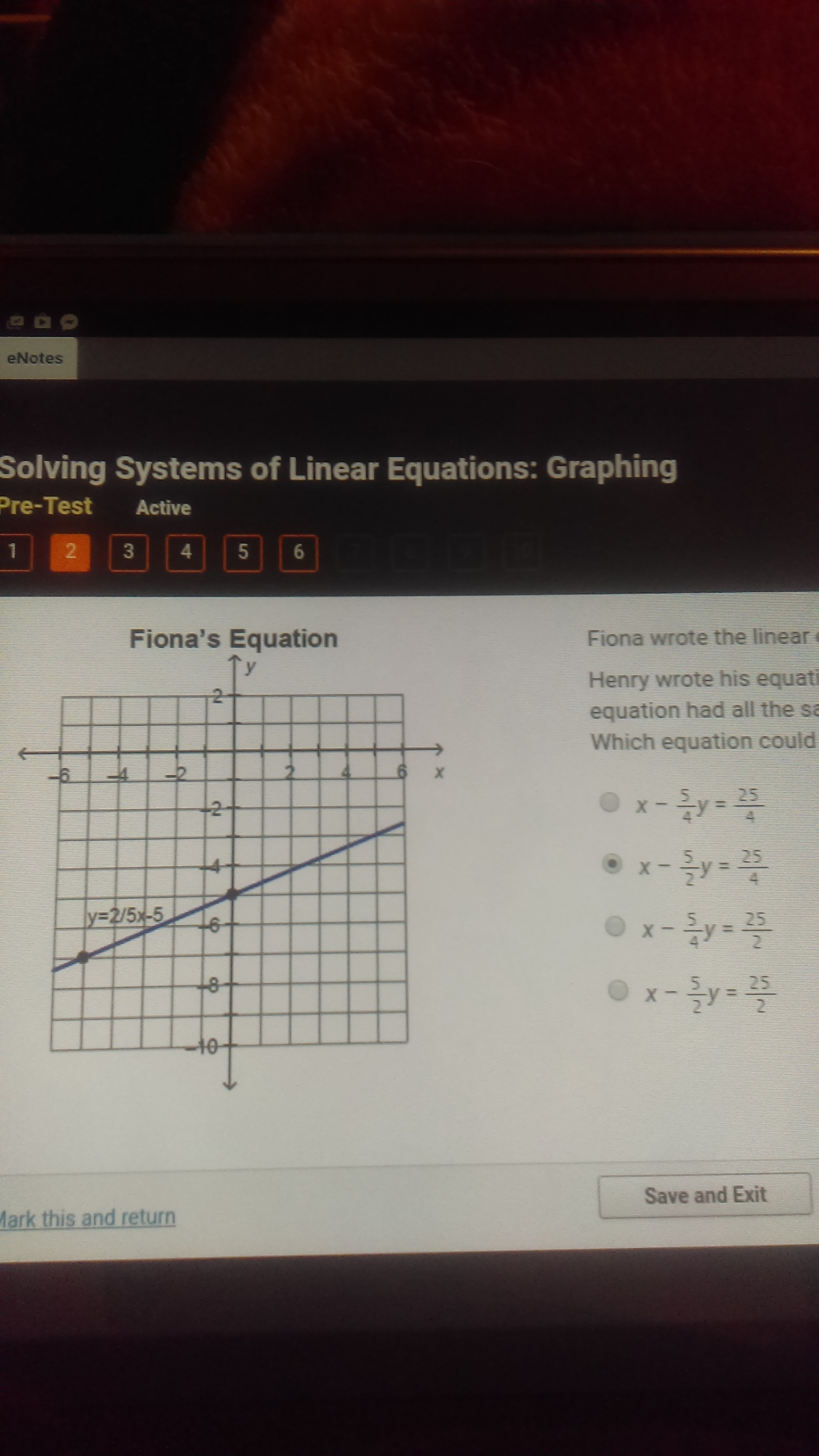 Graph Each Linear Equation Y X 5