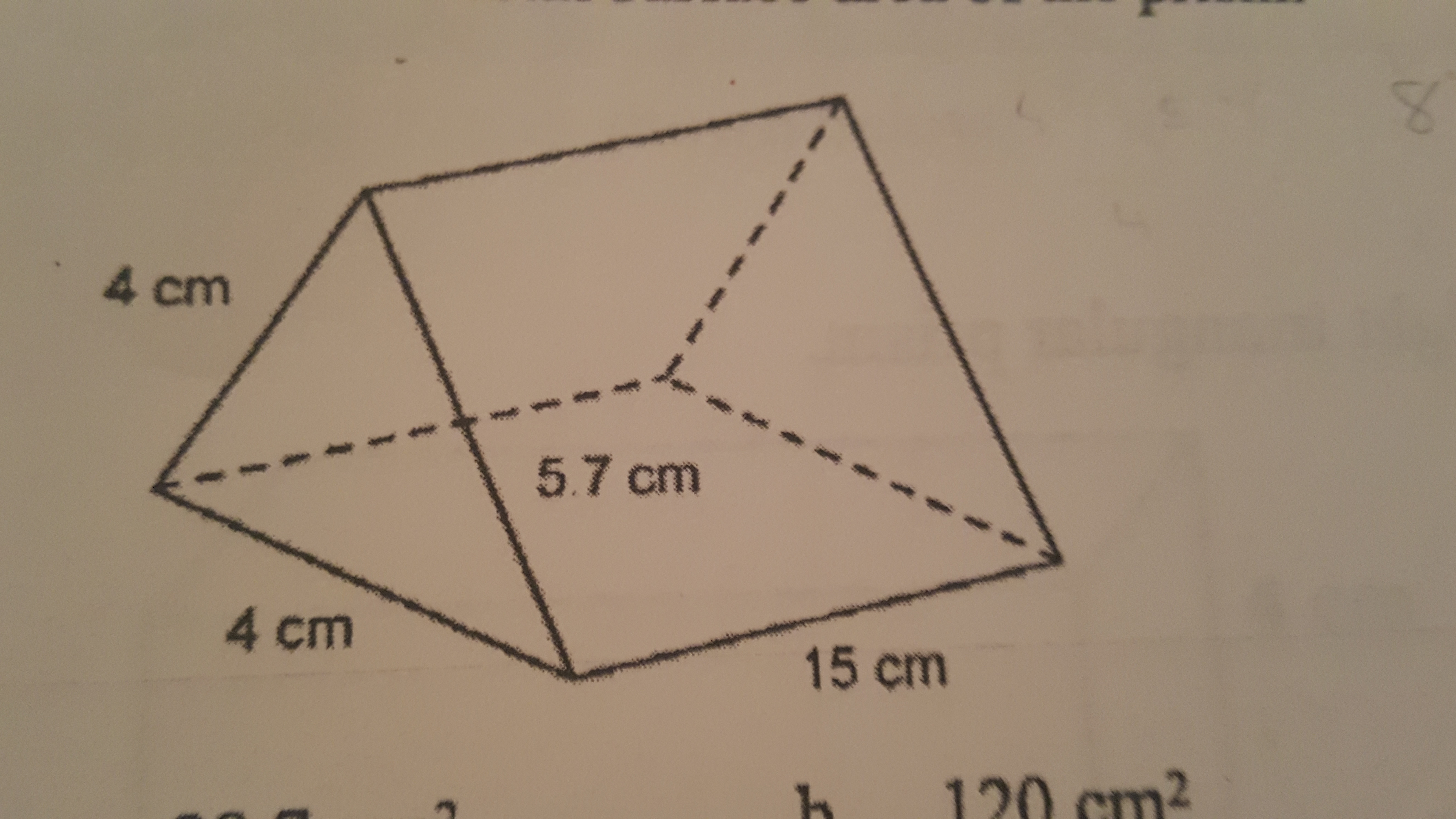 The Area Of Each Triangular Face Of This Right Triangular