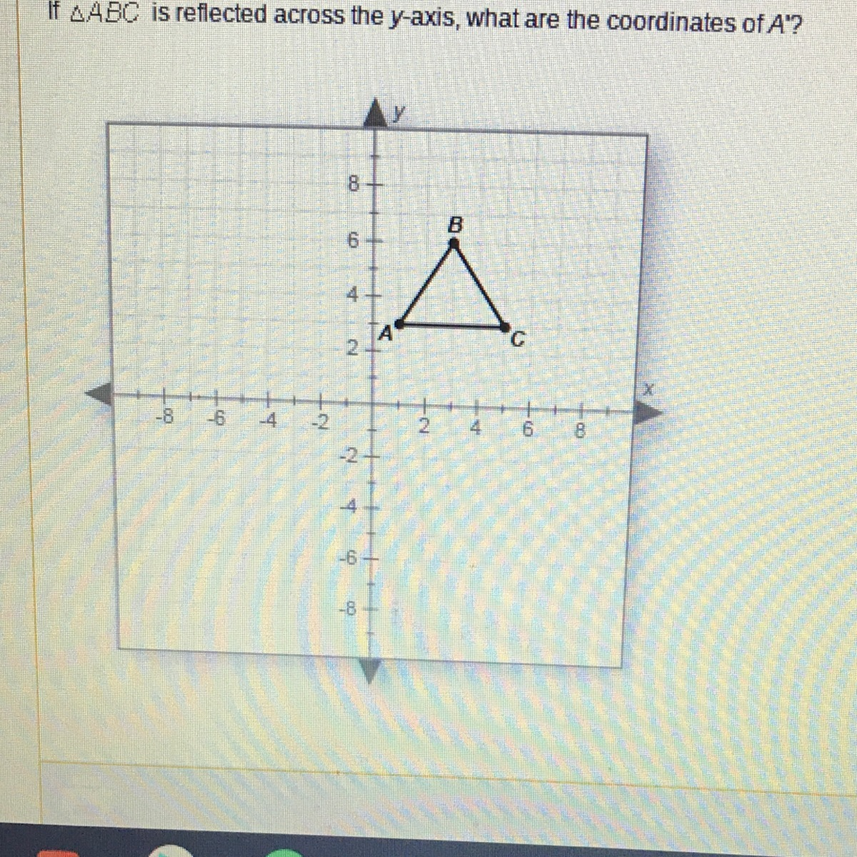 If Abc Is Reflected Across The Y Axis What Are The