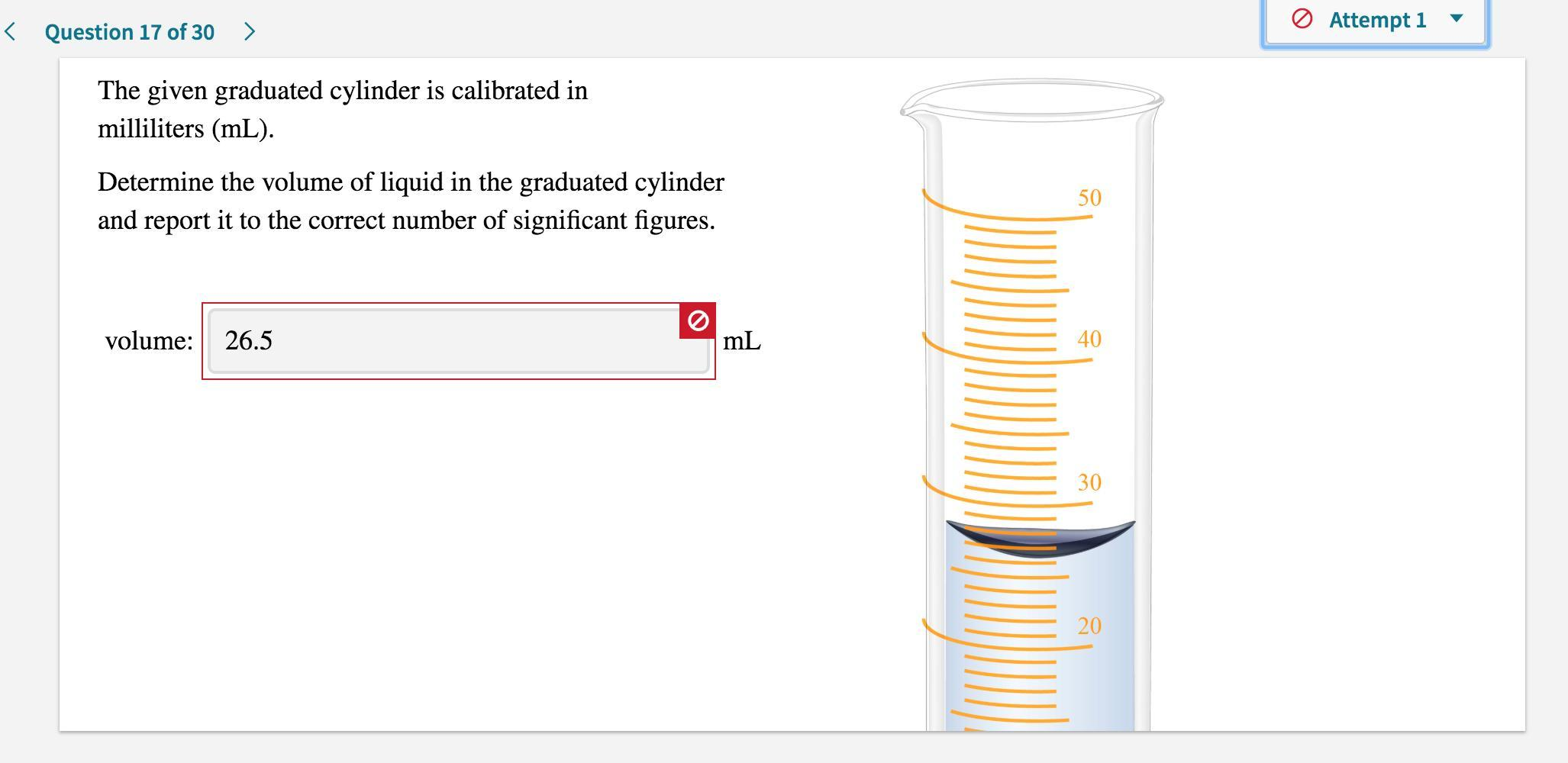 The Given Graduated Cylinder Is Calibrated In Milliliters