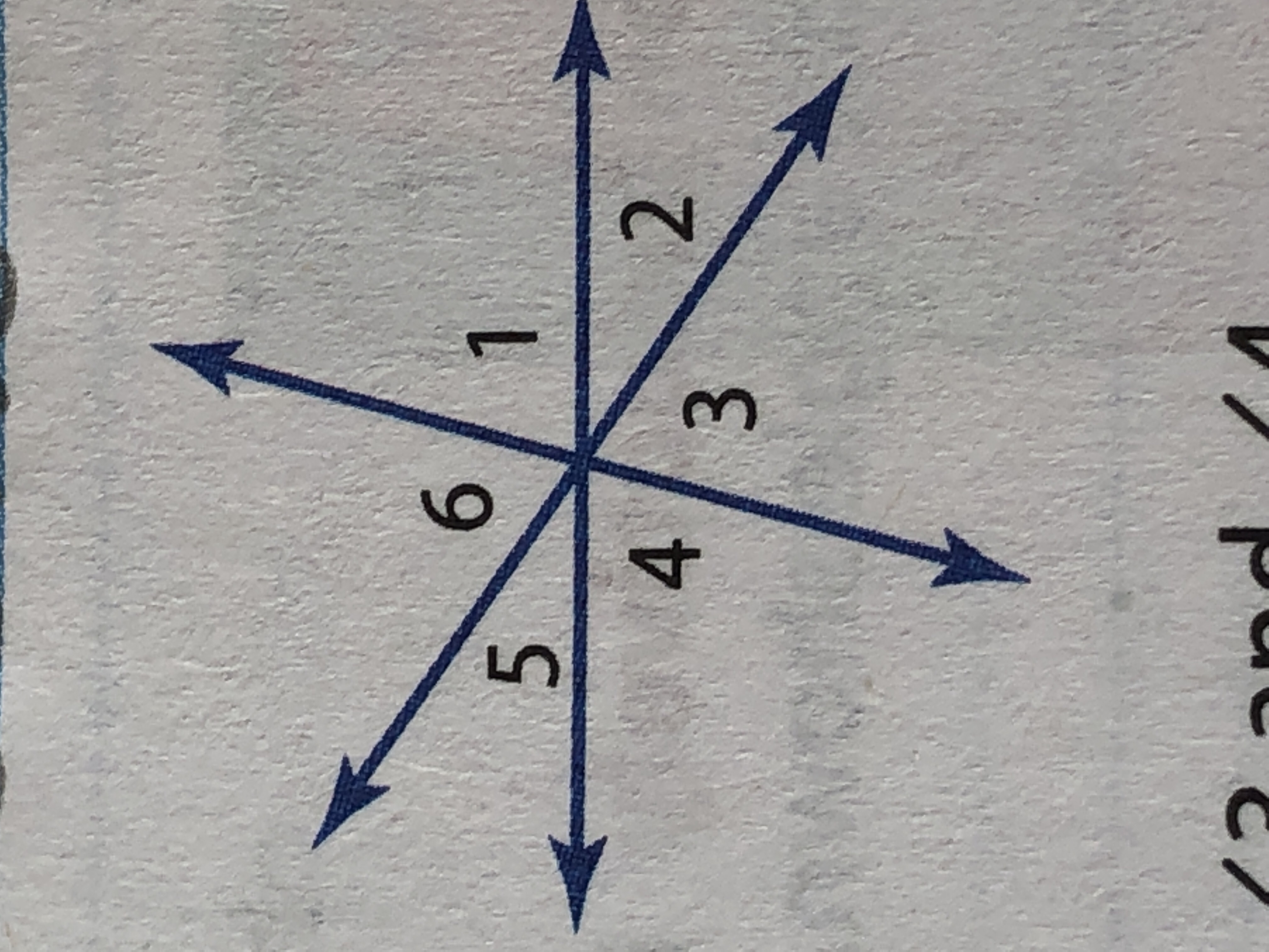 Is Angle 2 And Angle 5 Adjacent Vertical Or Neither
