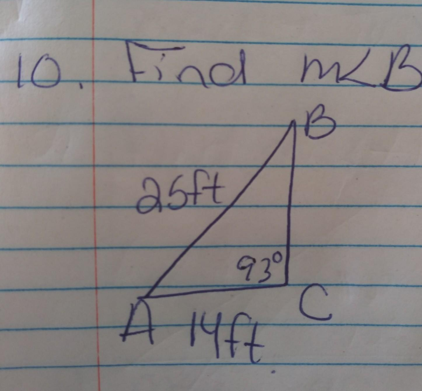 Laws Of Sines With Find The Angle Find Each Measurement