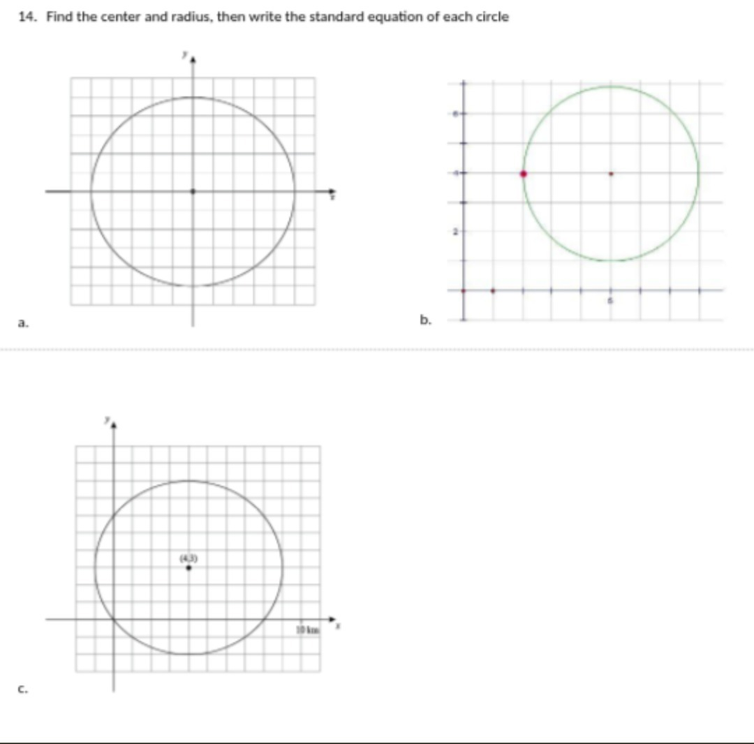 Find The Standard Equation Of A Circle With Center And