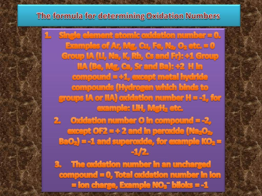 Which Rule For Assigning Oxidation Numbers Is Correct