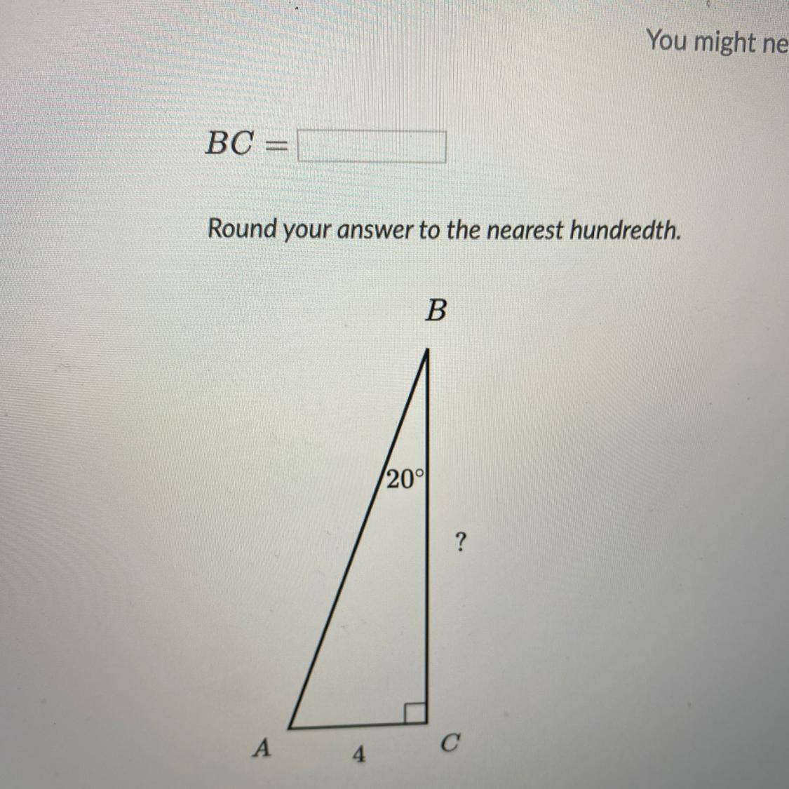 Bc Round Your Answer To The Nearest Hundredth B 20 A