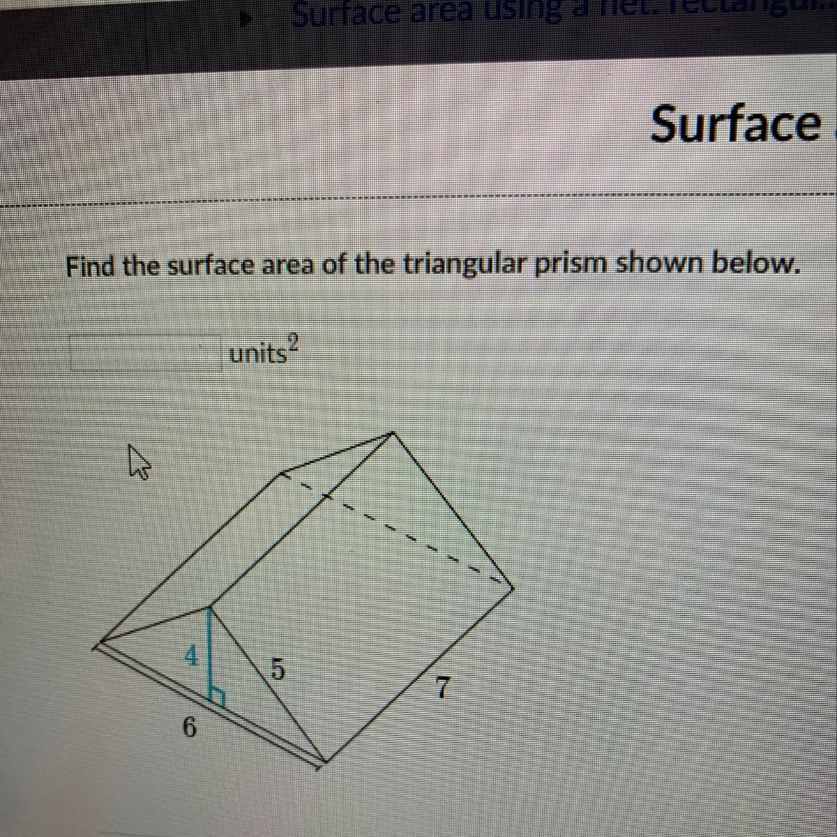 Find The Surface Area Of A Triangular Prism Shown Below