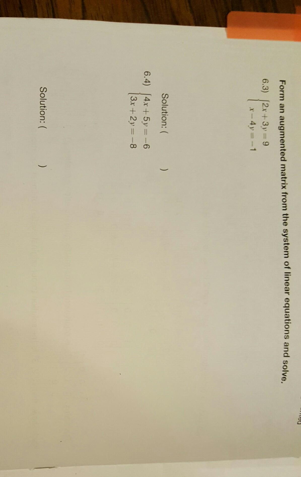Solve Matrix Equation For Me