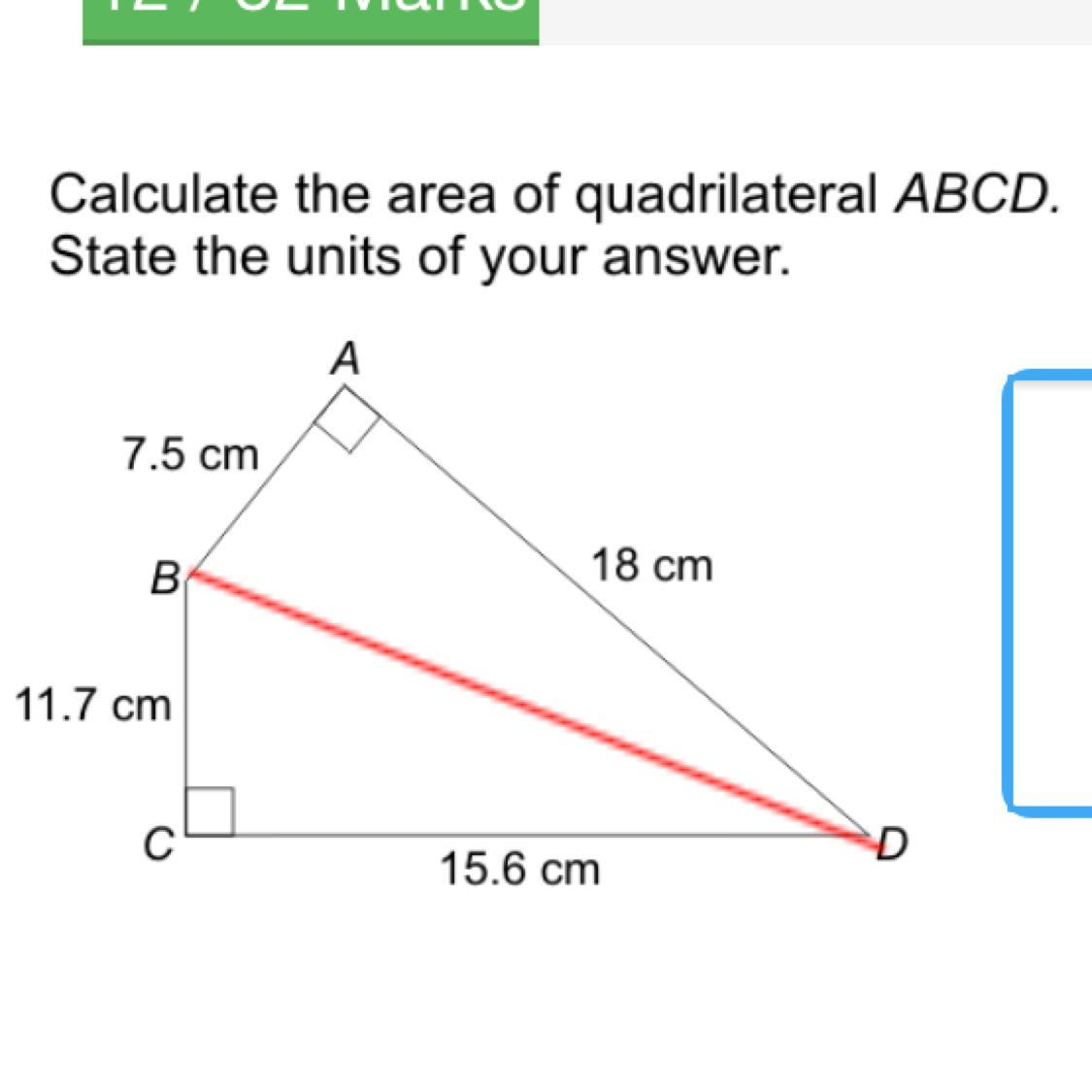Calculate The Area Of Quadrilateral Abcd State The Units