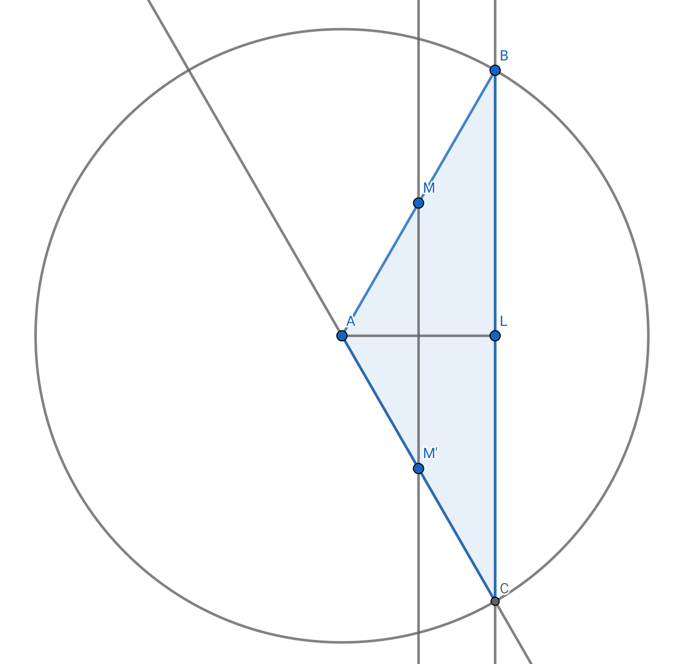 In Abc Al Is An Angle Bisector L Bc Point M Ab So