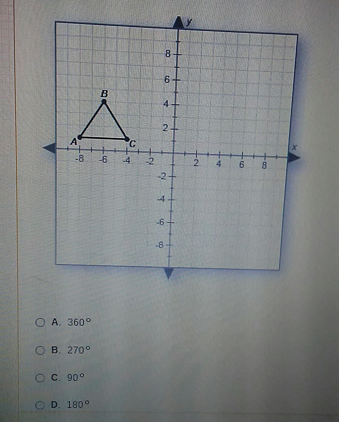 What Degree Of Rotation Will Cause The Triangle Below To