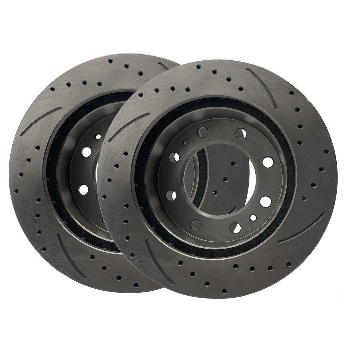Front Rear Brake Rotors For Chevy Silverado Gmc Sierra